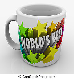 World's Best Mug Award Prize Top Performing Employee Boss...