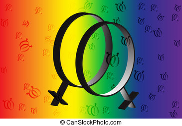 Ggay flag - Rainbow symbol of same-sex relationships and...