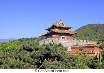Chinese ancient architecture in the Eastern Royal Tombs of...