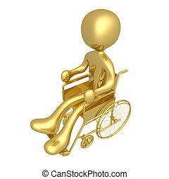 Wheelchair - Computer generated 3d image - Wheelchair.