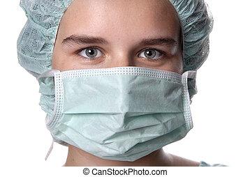 nurse - young woman nurse portrait, close up picture