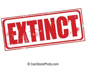 extinct stamp - extinct grunge stamp with on vector...