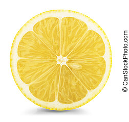 lemon slice isolatad on a white background. Clipping Path