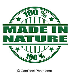made in nature stamp