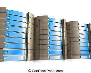Web Hosting Equipment - Computer generated image - Web...