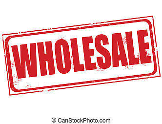 wholesale stamp - wholesale grunge stamp with on vector...