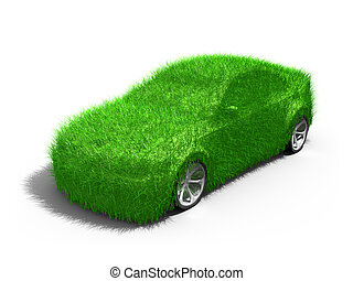 Green Car - Computer generated image - Green Car .