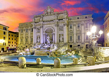 Roma - Trevi fountain, Italy
