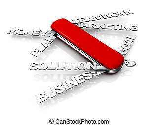Business Swiss Knife - Computer generated image - Business...