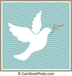 Vector Dove of Peace - Vector Illustration of a Dove of...