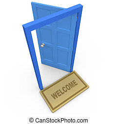 Welcome - Computer generated 3d image - Welcome