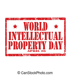 World Intellectual Property Day-stamp - Grunge rubber stamp...