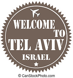 Welcome To Tel Aviv-label - Label with text Welcome To Tel...