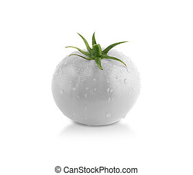 Gray tomato! creative concept, something different.