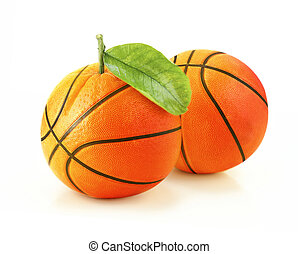 Orange basketball creative concept