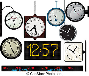 Train station watches collection