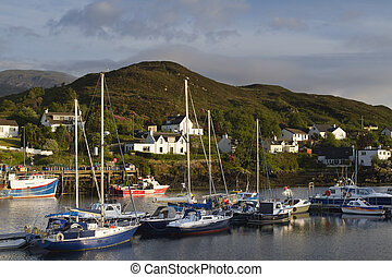 fishing boats in kyleakin harbour, isle of skye