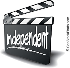 Clapper Board independent - detailed illustration of a...