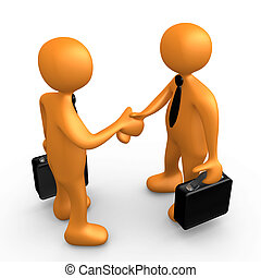 Business Agreement - Computer Generated Image - Business...