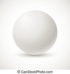 White pearl, vector illustration