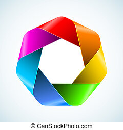 Abstract rainbow polygon icon. Vector illustration for your...
