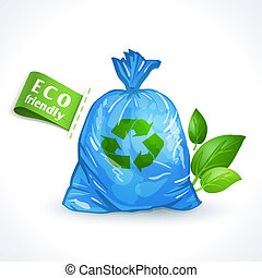 エコロジー, シンボル, プラスチック, 袋