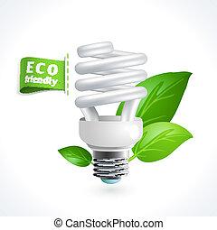 Ecology symbol lightbulb - Ecology and waste global...