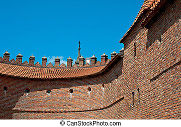 Barbican - The Barbican in Old Town of Warsaw, Poland