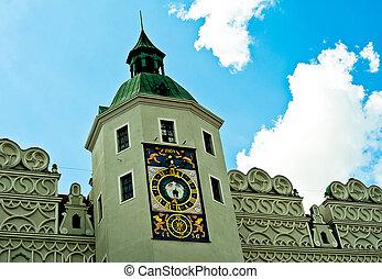 Castle Szczecin - Clock tower in the Castle of Pomeranian...