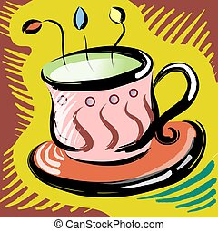 Coffe cup - Illustration drawing of coffe cup
