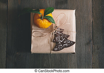 christmas gift - natural gift wrap for the holdays with...