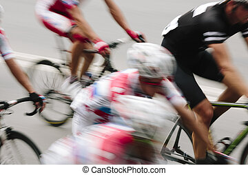 Bicycle Race - speed motion concept, special lens blur