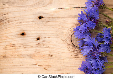 Cornflower - Cornflower on wooden background Studio...