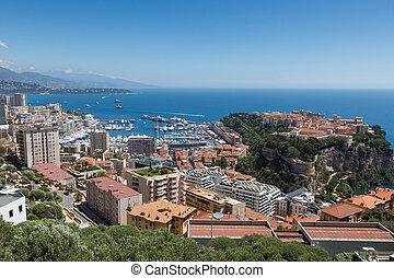 Monaco, Le Rocher - Monaco View of the Rock of Monaco and...
