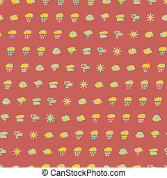Wheather pattern - Wheather symbols seamless pattern a...
