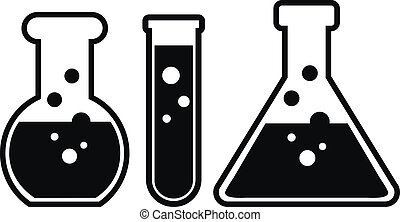 Laboratory glass on white background.