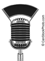 3d Old retro radio microphone - 3d render of an old radio...