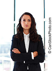 Portrait of a confident businesswoman with folded arms