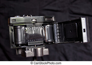 Inside of old film camera, made in - This is a legendary...