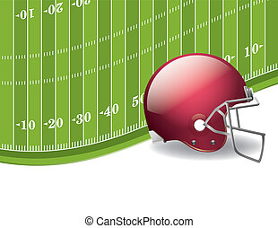 American Football Field and Helmet Background - An...