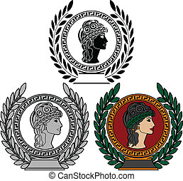 glory of ancient greek woman. vector illustration