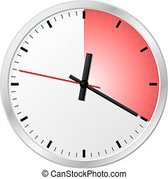timer with 20 (twenty) minutes - vector illustration of a...