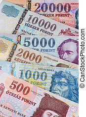 hungarian forint - These are the hungarian banknotes, it is...