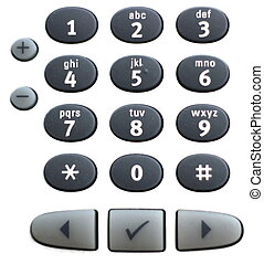 Numpad Of Telephone - Numpad of a telephone with some...