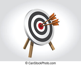 Arrows Hitting A Target, Vector illustration