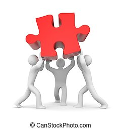 Successful team metaphor - Teamwork concept. Isolated on...