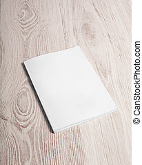 Magazine cover with blank page - Magazine cover with blank...