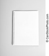 Open album with blank pages - Open album with blank white...