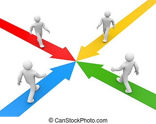 Partnership or competition metaphor - Image contain clipping...