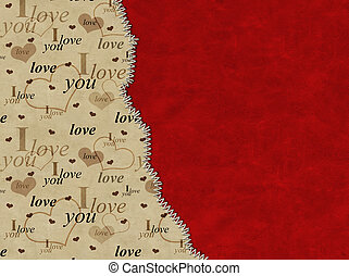 Valentine background - Leather valentine grunge background...